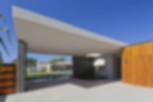Modern Australian house front and entrance